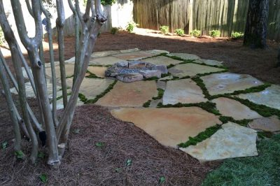 Natural Patio WIth Firepit